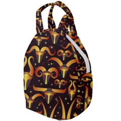 Stylised Horns Black Pattern Travel Backpacks