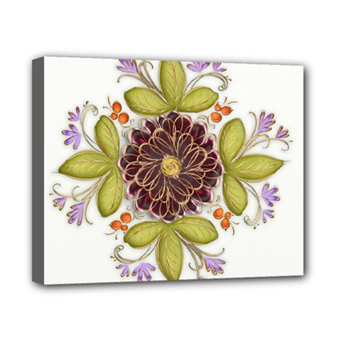 Flowers Decorative Flowers Pattern Canvas 10  X 8  (stretched) by Pakrebo