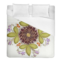 Flowers Decorative Flowers Pattern Duvet Cover (full/ Double Size)