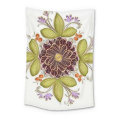 Flowers Decorative Flowers Pattern Small Tapestry