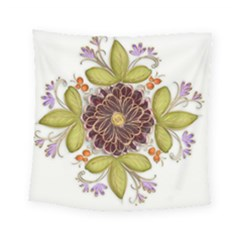 Flowers Decorative Flowers Pattern Square Tapestry (small) by Pakrebo