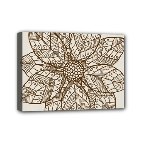 Flower Mandala Christmas Xmas Mini Canvas 7  X 5  (stretched)