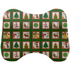 Christmas Paper Christmas Pattern Head Support Cushion