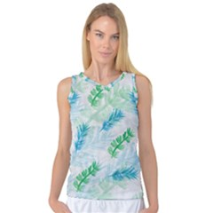 Pattern Feather Fir Colorful Color Women s Basketball Tank Top
