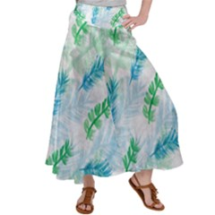 Pattern Feather Fir Colorful Color Satin Palazzo Pants by Pakrebo