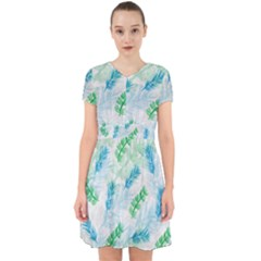 Pattern Feather Fir Colorful Color Adorable In Chiffon Dress