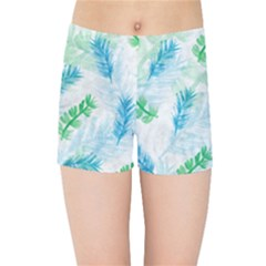 Pattern Feather Fir Colorful Color Kids  Sports Shorts