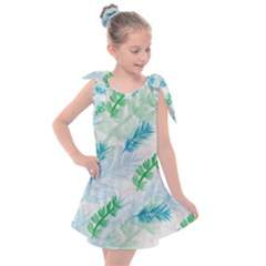 Pattern Feather Fir Colorful Color Kids  Tie Up Tunic Dress