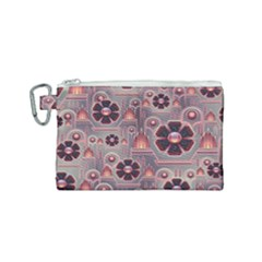 Background Floral Flower Stylised Canvas Cosmetic Bag (small) by Pakrebo
