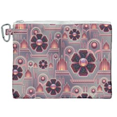 Background Floral Flower Stylised Canvas Cosmetic Bag (xxl)