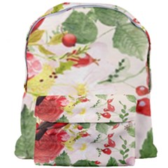 Christmas Bird Floral Berry Giant Full Print Backpack