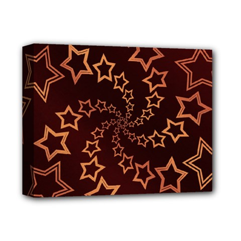 Gold Stars Spiral Chic Background Deluxe Canvas 14  X 11  (stretched)