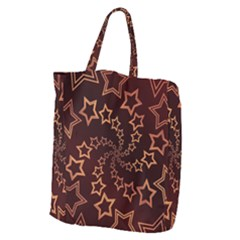 Gold Stars Spiral Chic Background Giant Grocery Tote