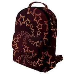 Gold Stars Spiral Chic Background Flap Pocket Backpack (small) by Pakrebo
