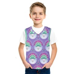 Background Floral Pattern Purple Kids  Sportswear