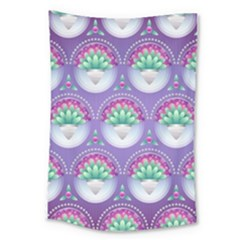 Background Floral Pattern Purple Large Tapestry