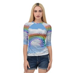 Rainbow Clouds Intimacy Intimate Quarter Sleeve Raglan Tee