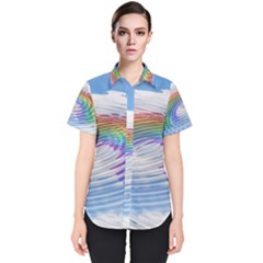 Rainbow Clouds Intimacy Intimate Women s Short Sleeve Shirt