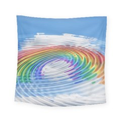 Rainbow Clouds Intimacy Intimate Square Tapestry (small)