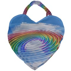 Rainbow Clouds Intimacy Intimate Giant Heart Shaped Tote