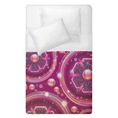 Abstract Background Floral Glossy Duvet Cover (single Size)