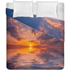 Sunset Dawn Sea Sun Nature Duvet Cover Double Side (california King Size)