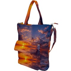 Sunset Dawn Sea Sun Nature Shoulder Tote Bag