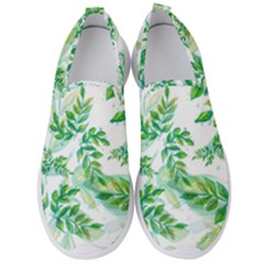 Leaves Green Pattern Nature Plant Men s Slip On Sneakers
