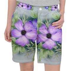 Flowers Vector Illustration Figure Pocket Shorts