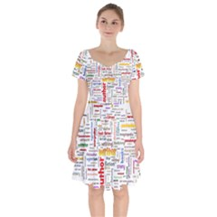 Writing Author Motivation Words Short Sleeve Bardot Dress