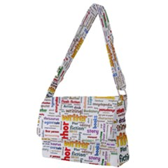 Writing Author Motivation Words Full Print Messenger Bag