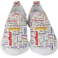 Writing Author Motivation Words Kids  Slip On Sneakers