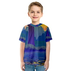 Illustration Vector Forest Nature Kids  Sport Mesh Tee