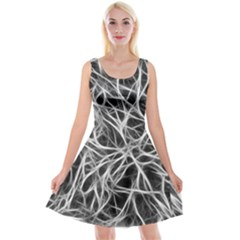 Nerves Cells Dendrites Sepia Reversible Velvet Sleeveless Dress