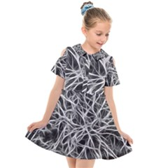 Nerves Cells Dendrites Sepia Kids  Short Sleeve Shirt Dress