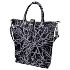 Nerves Cells Dendrites Sepia Buckle Top Tote Bag