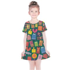 Presents Gifts Background Colorful Kids  Simple Cotton Dress