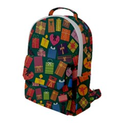 Presents Gifts Background Colorful Flap Pocket Backpack (large) by Pakrebo