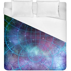 Network Earth Block Chain Globe Duvet Cover (king Size)
