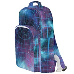 Network Earth Block Chain Globe Double Compartment Backpack
