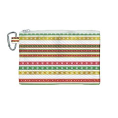 Christmas Ribbons Christmas Gold Canvas Cosmetic Bag (medium)