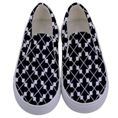Abstract Background Arrow Kids  Canvas Slip Ons