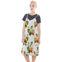 Apricot Fruit Vintage Art Camis Fishtail Dress by Pakrebo