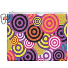 Abstract Circles Background Retro Canvas Cosmetic Bag (xxxl)
