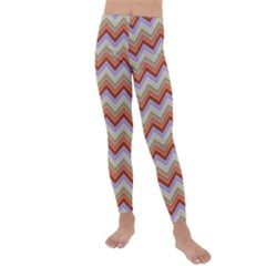 Background Chevron Pattern Design Kids  Lightweight Velour Leggings