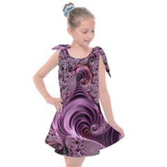 Abstract Art Fractal Art Fractal Kids  Tie Up Tunic Dress