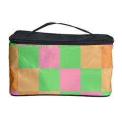 Checkerboard Pastel Squares Cosmetic Storage