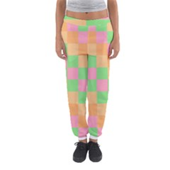 Checkerboard Pastel Squares Women s Jogger Sweatpants by Pakrebo