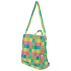 Checkerboard Pastel Squares Crossbody Backpack