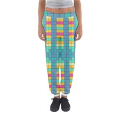 Checkerboard Squares Abstract Women s Jogger Sweatpants